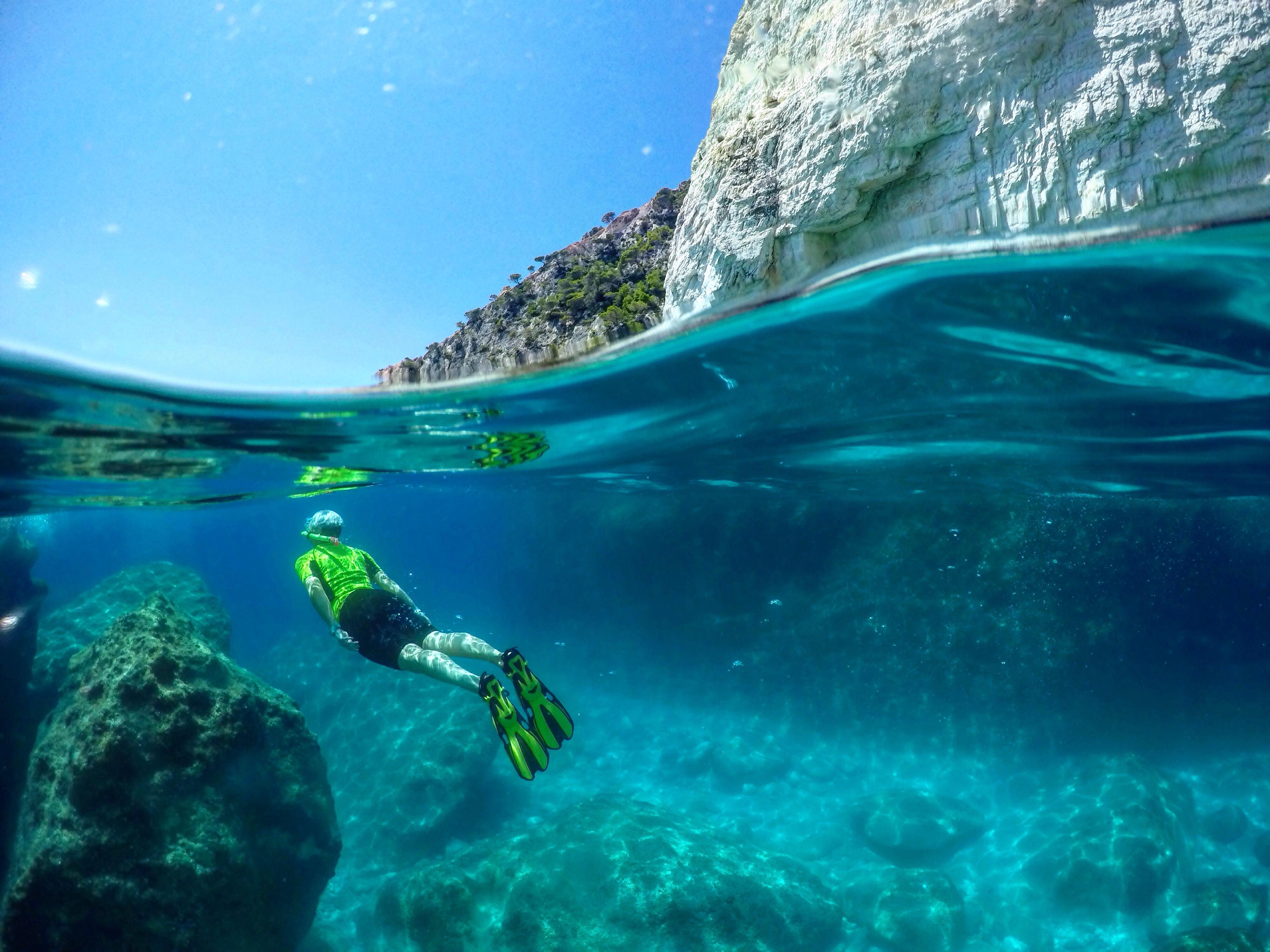 Keri Caves, snorkel, greece, zakynthos
