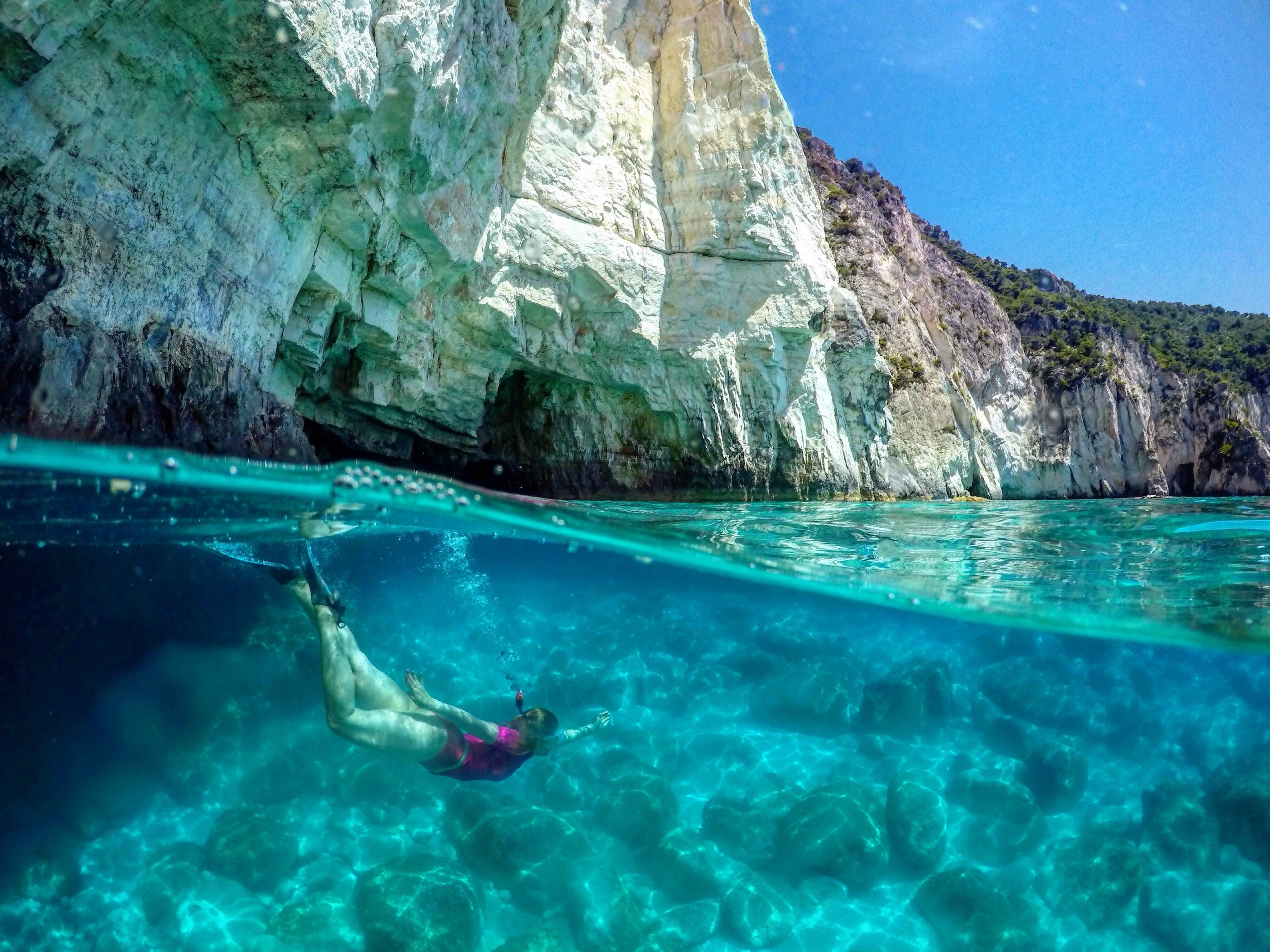 Keri Caves, Snorkelling, Greece, Zakynthos